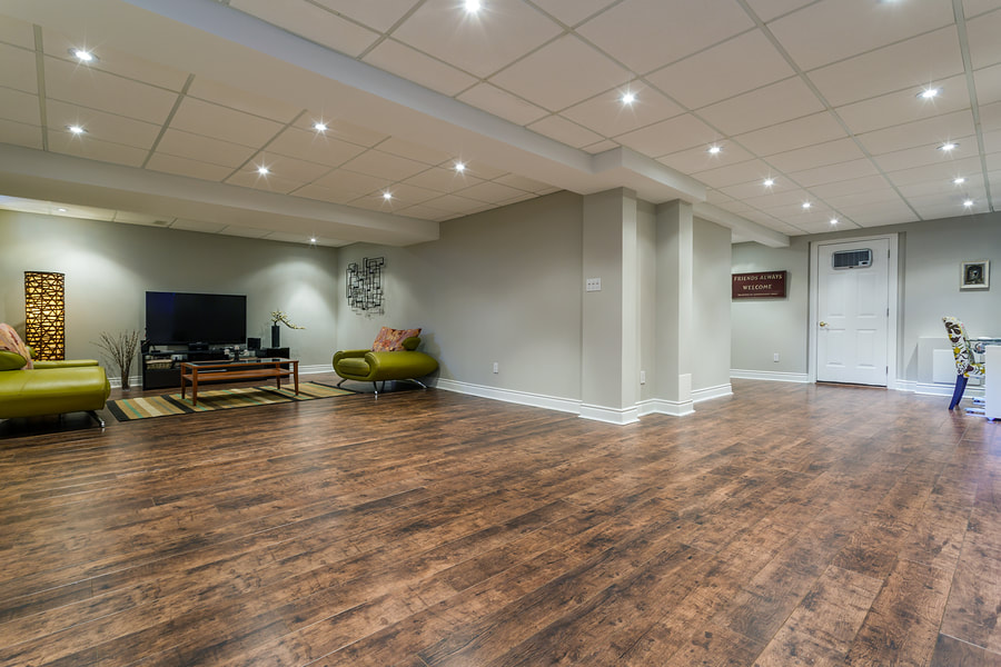 a nicely finished basement